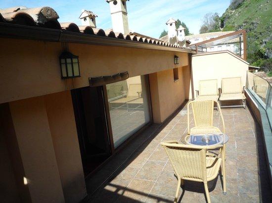 Hotel Sierra de Cazorla: terraza del 1304
