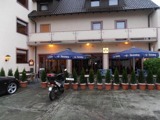 Hotel Rebstock : Außenansicht Hintereingang