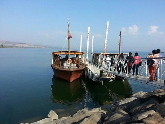 Sea of Galilee : Lining up for the ride