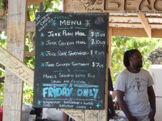 Shipwreck Beach Bar And Grill The Menu