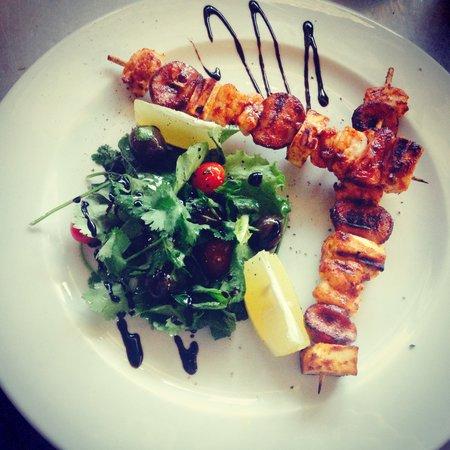 Sleepers Restaurant: Prawn, Halloumi & Chorizo Skewers