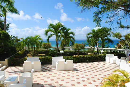 Luxury Bahia Principe Cayo Levantado: View from the terrace of the hotel