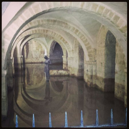 Winchester Cathedral: Flooded crypt,  May 2014