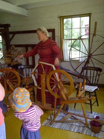 Upper Canada Village: Learning the art of yarn dying