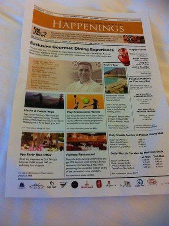 Shangri-La Al Husn Resort & Spa: Happenings