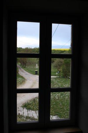 La Ferme de Marjolet : window looking out from our bedroom