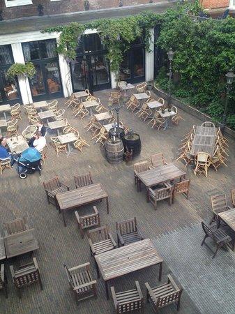 Hotel Schimmelpenninck Huys : Mooie binnenplaats / terras