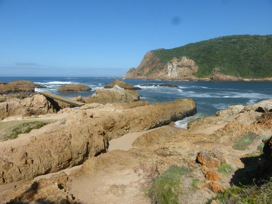 The Knysna heads at sea level