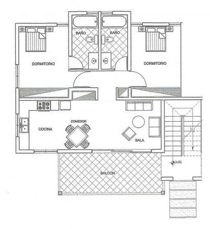 Planta apartamento 2 habitaciones picture of hotel oasis for Hoteles en planta