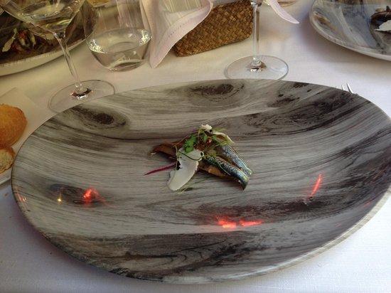 Arbidel restaurante: Un bocarte que llenaba el plato