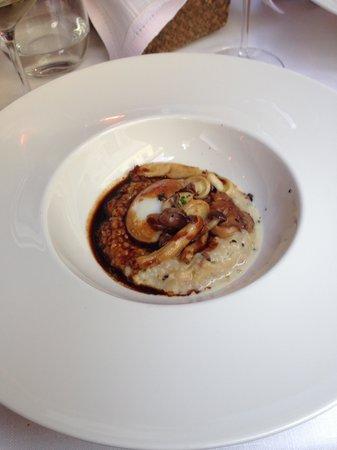 Arbidel restaurante: Risoto, boletus, huevo...
