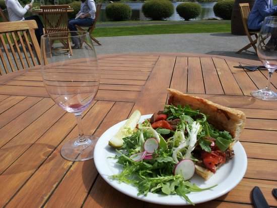 Waterbrook winery's steak sandwich