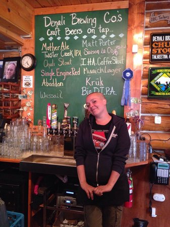 Denali Brewing Company : our cute bartender