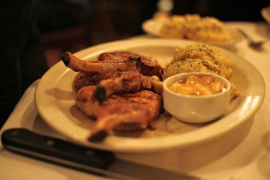 Pork chops at St. Elmo Steak House