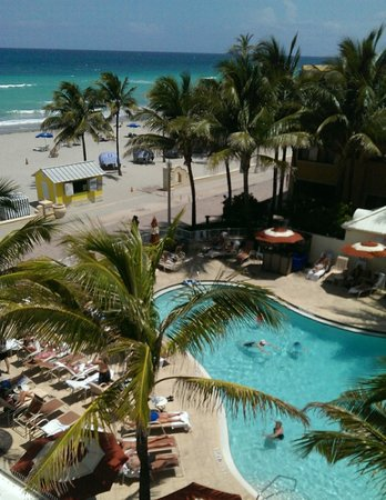 Hollywood Beach Marriott: View from my room...