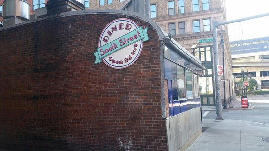 South Street Diner: The outside of the building