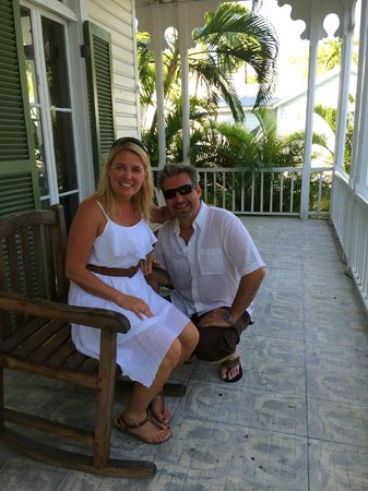 Chelsea House Hotel in Key West: The front porch of the Chelsea House
