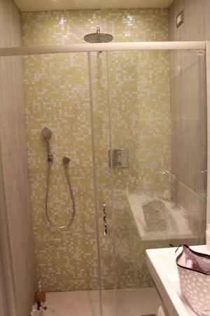 Bellambra - first class rooms and vacation apartment : Beautiful Shower...very well kept bathroom.