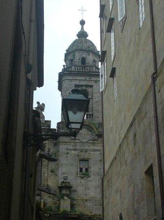 Ruta de Santiago de Compostela: Vista torre Convento de San Francisco