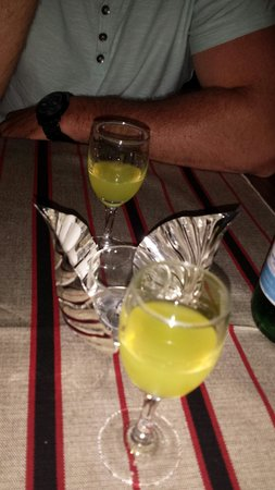 Il Marzialino : Limoncello on the house