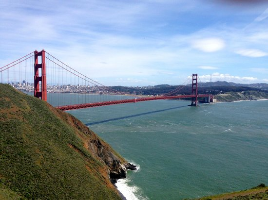 Dylan's Tours: Inspirational moment watching the Golden Gate bridge