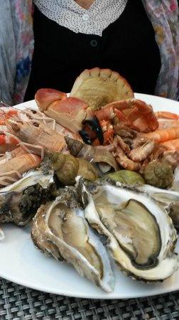 Le Jardin Delice : assiette fruits de mer