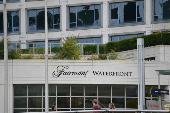 Fairmont Waterfront: From across the street