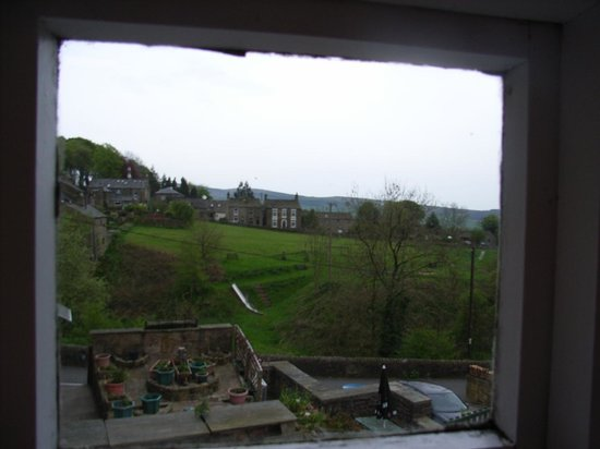 Little Hayfield, UK: view from bedroom window