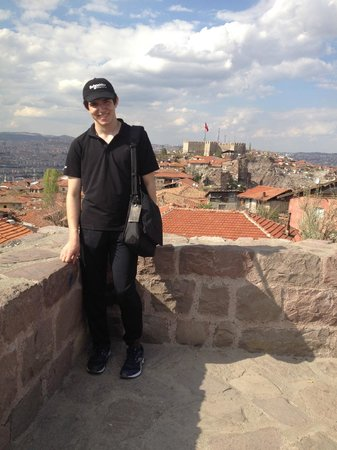Ankara Citadel (Hisar) : Kyle on top of Citadel with Castle in background