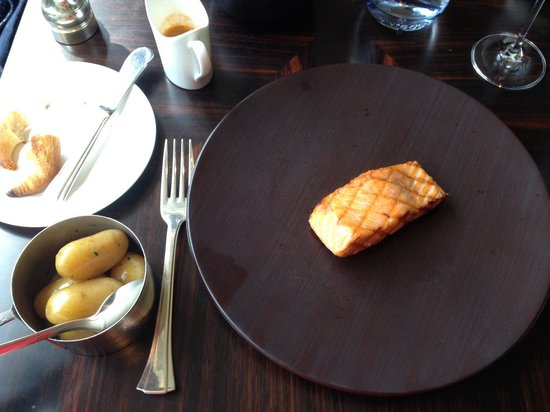 The Savoy: Gorgeous Scottish Salmon and Jersey Royals in Kaspar's