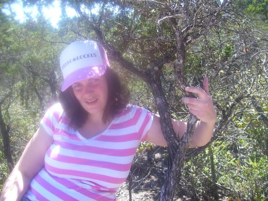 Jughandle State Reserve: My daughter at the pygmy forest.