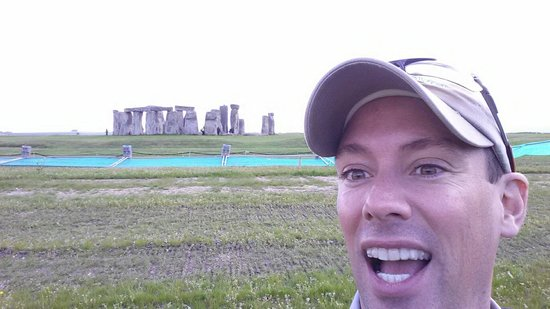 Stonehenge: A few feet away off the dirt road and free