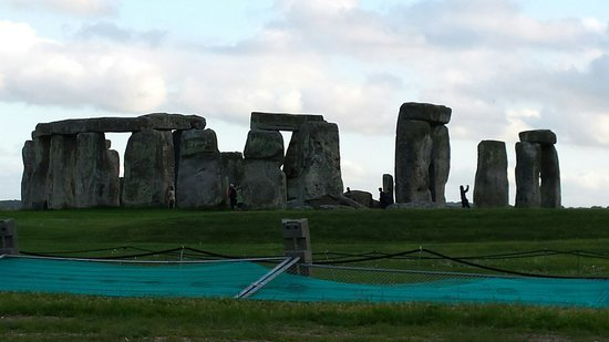 Stonehenge: As close as you can get without paying. Lol