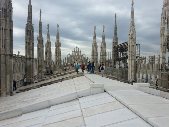 Duomo Rooftops : Vue de la terrasse