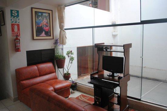 Samanapata Comfort Hostel: zona wifi
