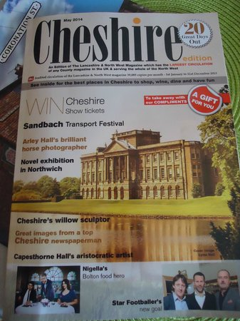 Daresbury Park Hotel: complimentary magazine in the room