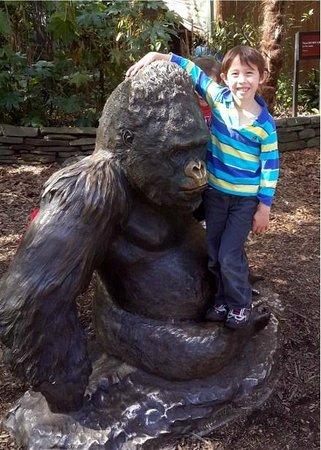 Zoo Atlanta : Gorilla Statue with hanger on