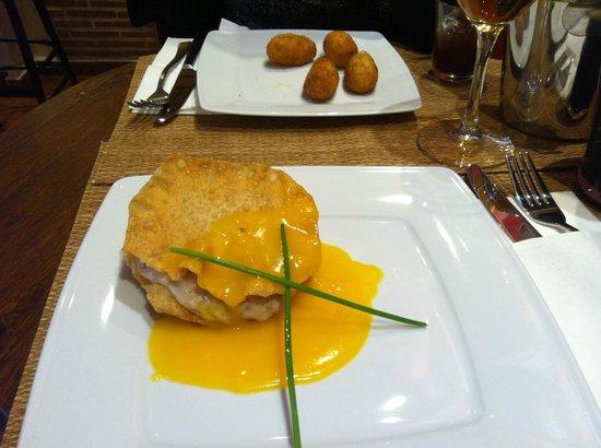 Taberna de los Verdugo: Lasaña de Pato, plato curioso y deliciosa