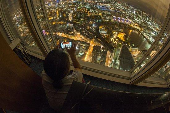 Shangri-La Hotel, At The Shard, London: Night view