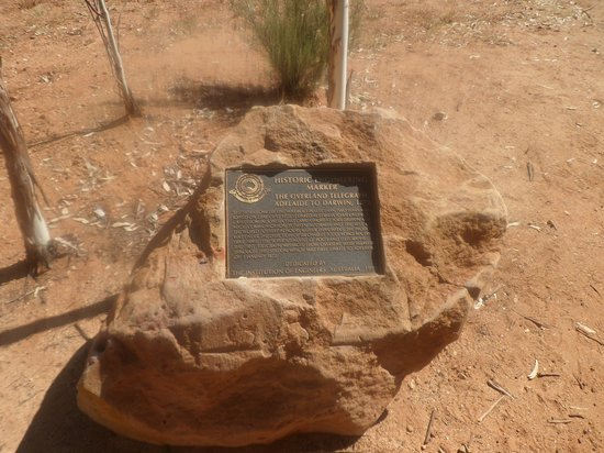 Alice Springs Telegraph Station Historical Reserve: Commerorative plaque