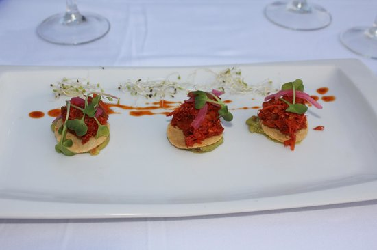 Casa Velas: Crab/corn cake beach club appetizer