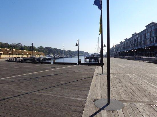 Woolloomooloo Wharf: Muelle de madera