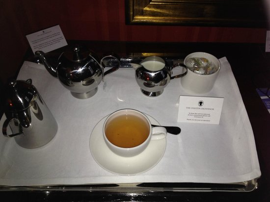 The Chester Grosvenor: morning tea delivered to your room