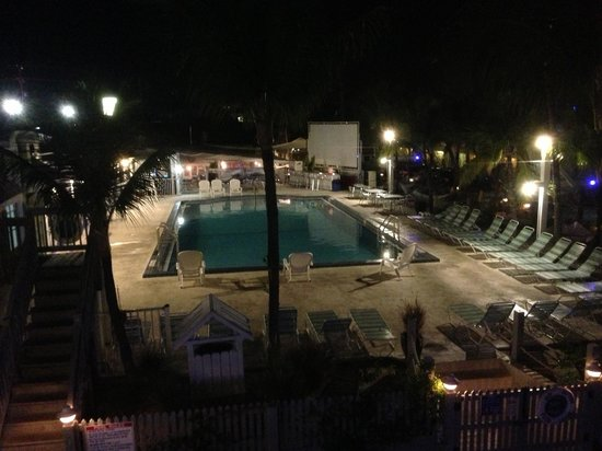 Ibis Bay Beach Resort: The pool at night from our balcony