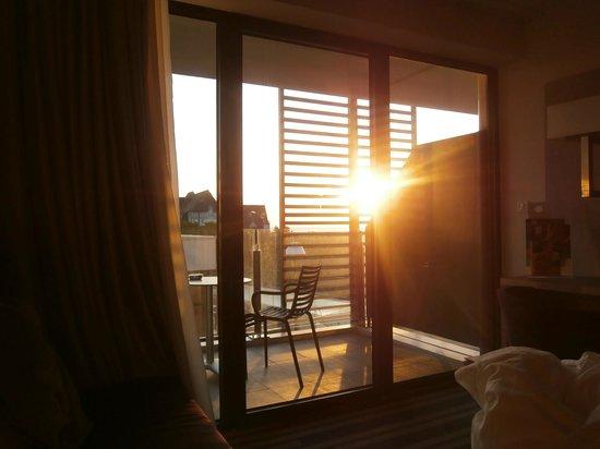 Hôtel les bains de Cabourg : vue du balcon