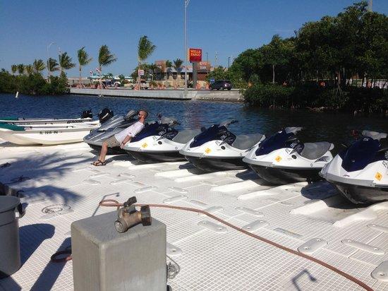 Ibis Bay Beach Resort: The WaveRunners we rented right at the resort