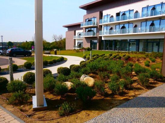 Hôtel les bains de Cabourg : vue depuis l entrée