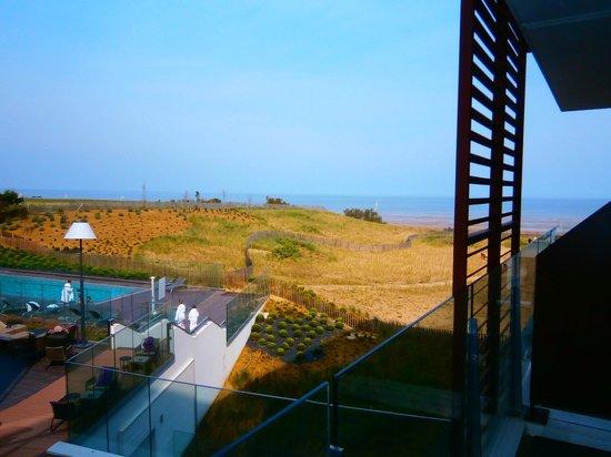 Hôtel les bains de Cabourg : vue sur la plage