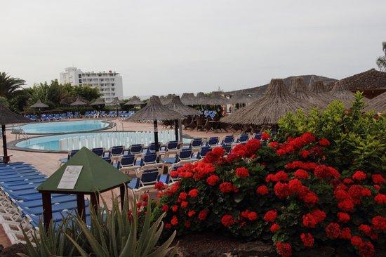 Sol Jandia Mar Apartments : vista da fronte piscine