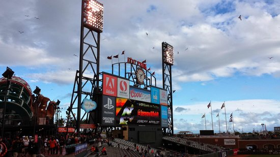 AT&T Park : Outfield scoreboard